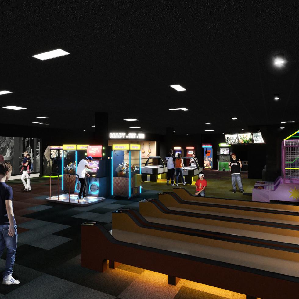 Palace Social rendering arcade