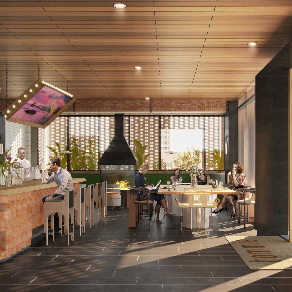 tommie Austin coffee shop rendering