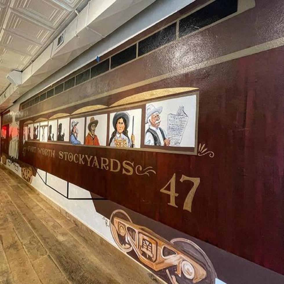 The Railcar coffee mural
