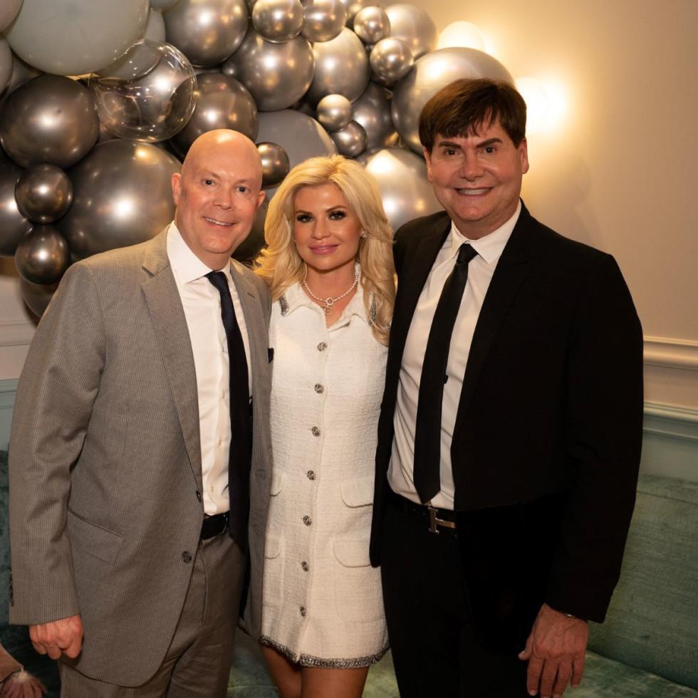 James Hallam, Kristin Hallam, Steve Kemble wedding