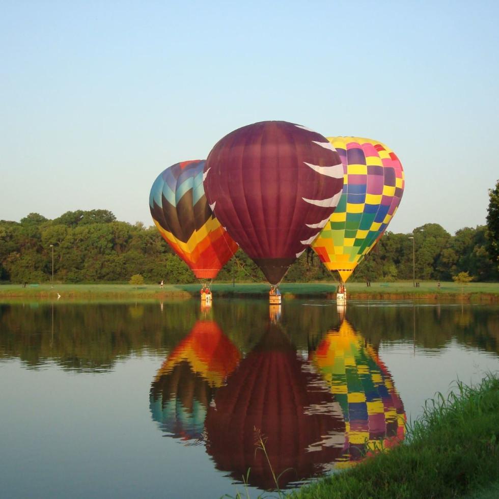 Plano park, hot air balloon