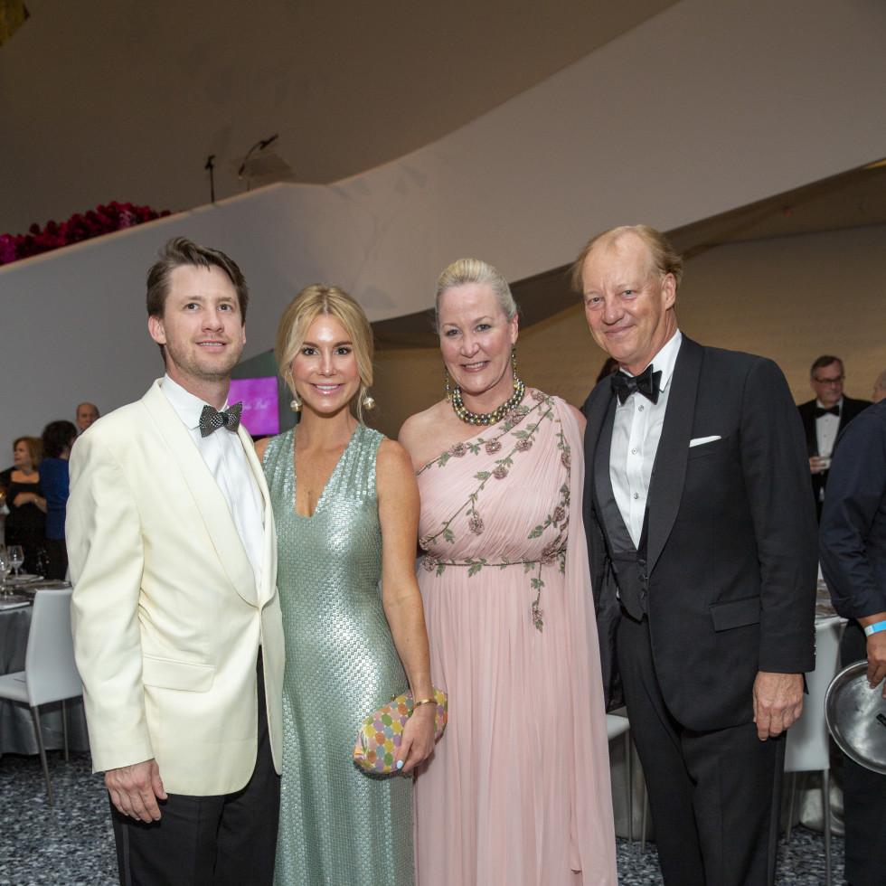 MFAH Grand Gala Ball 2021 George Dodd; Lisa Fred; Sara Dodd and Will Denton