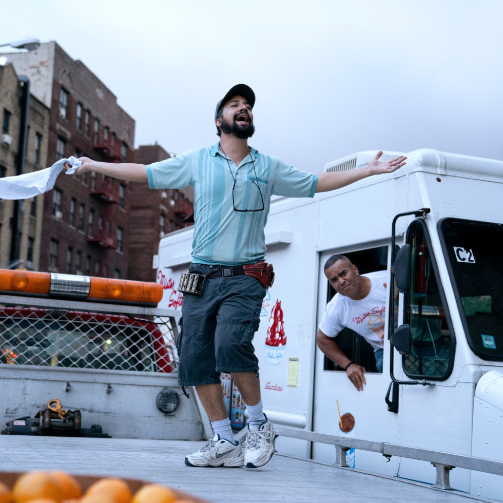 Lin-Manuel Miranda and Christopher Jackson in In the Heights