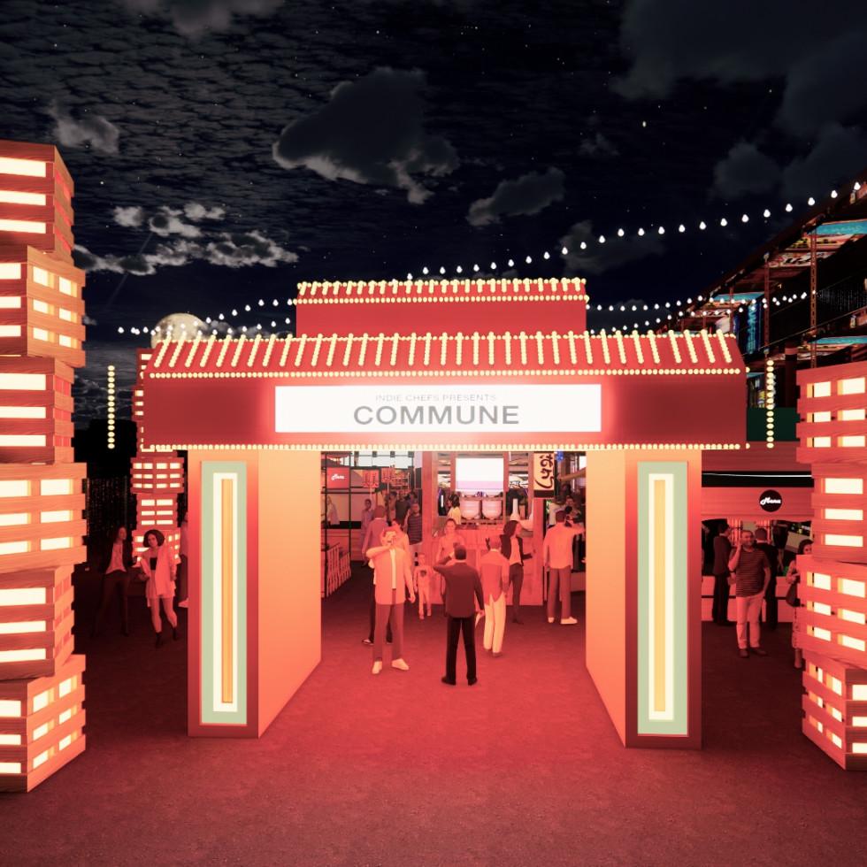 Commune food festival rendering