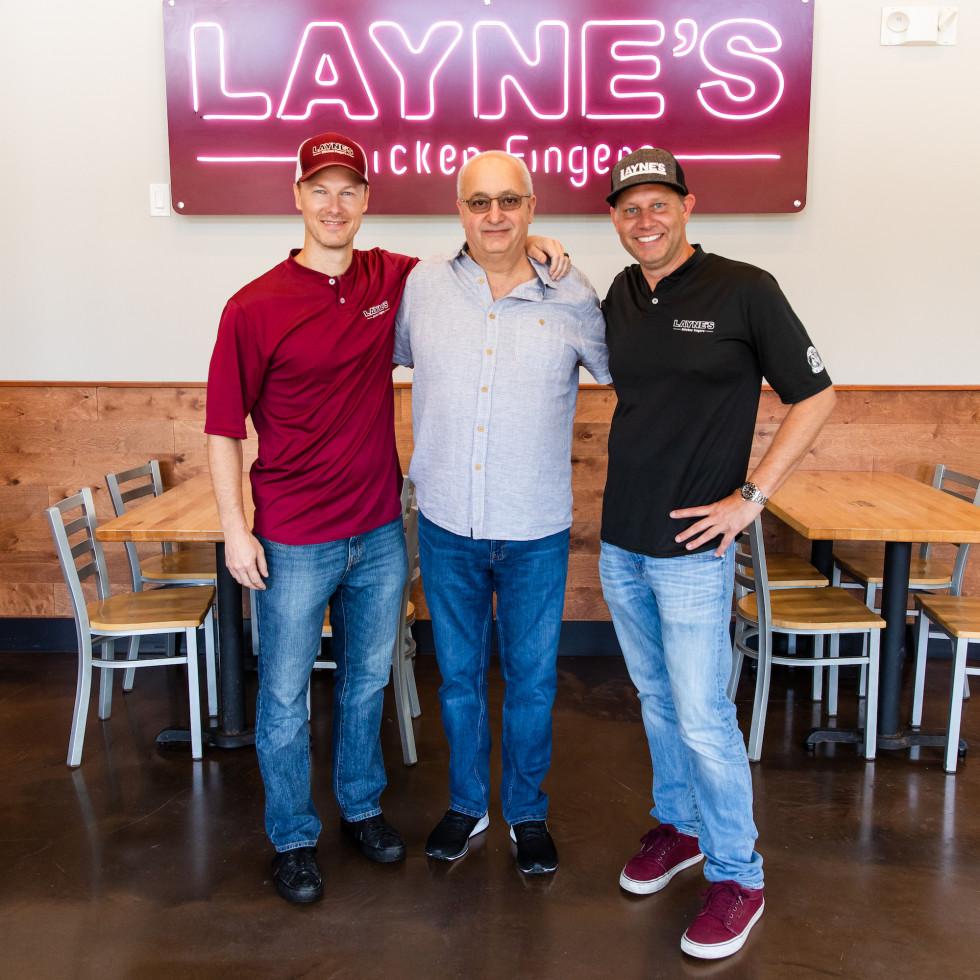 Layne's Chicken Fingers Katy Matt O'Reily, Samir Wattar, Garrett Reed