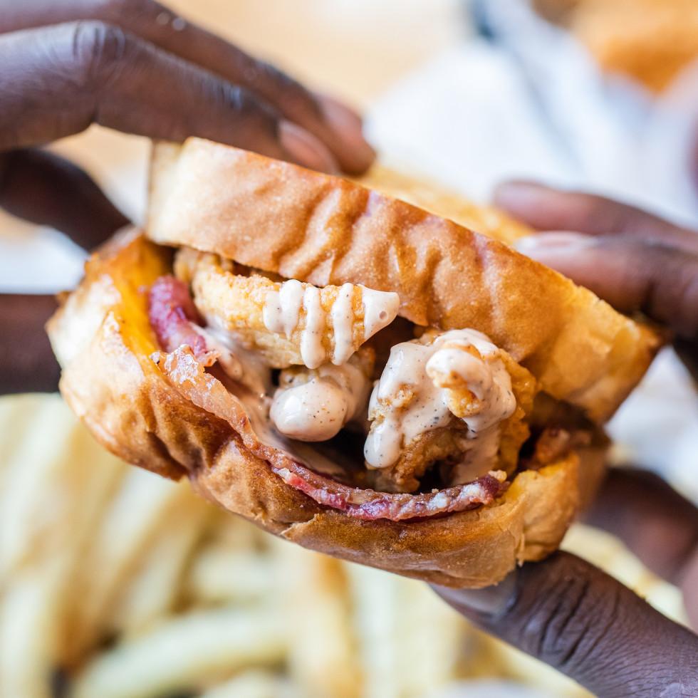 Layne's Chicken Fingers Katy sandwich