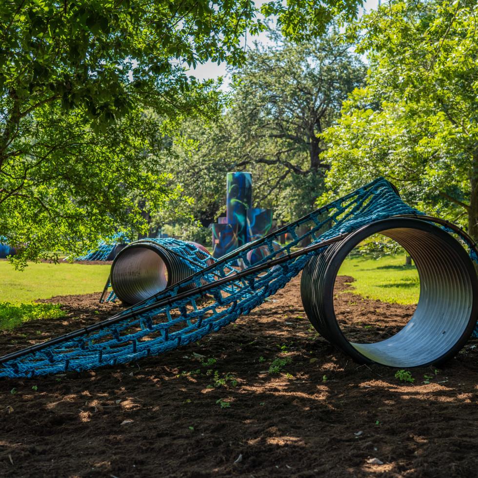 Territories installation at Austin hike and bike trail
