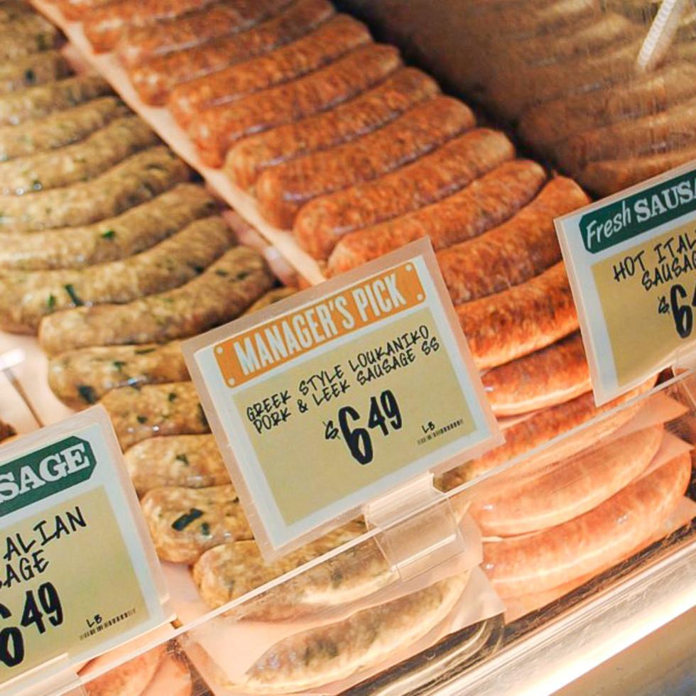 Central Market sausages