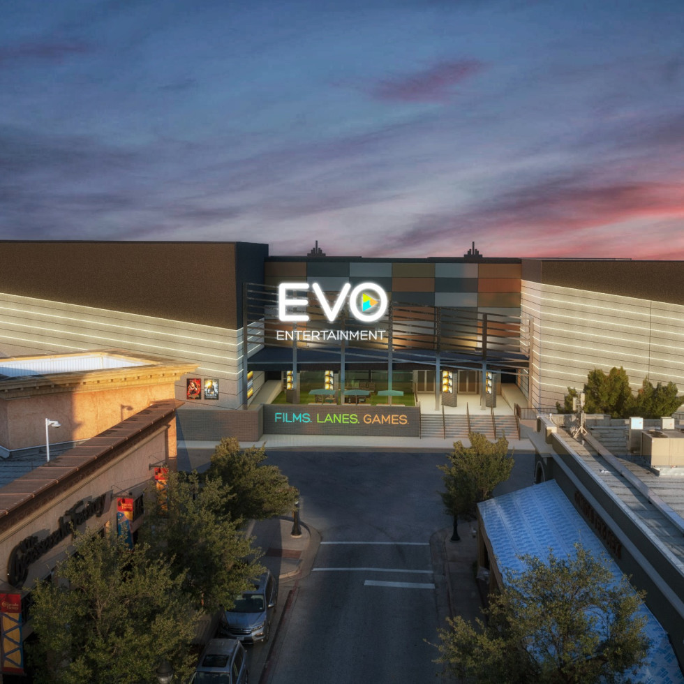 Rendering of EVO Entertainment in Southlake