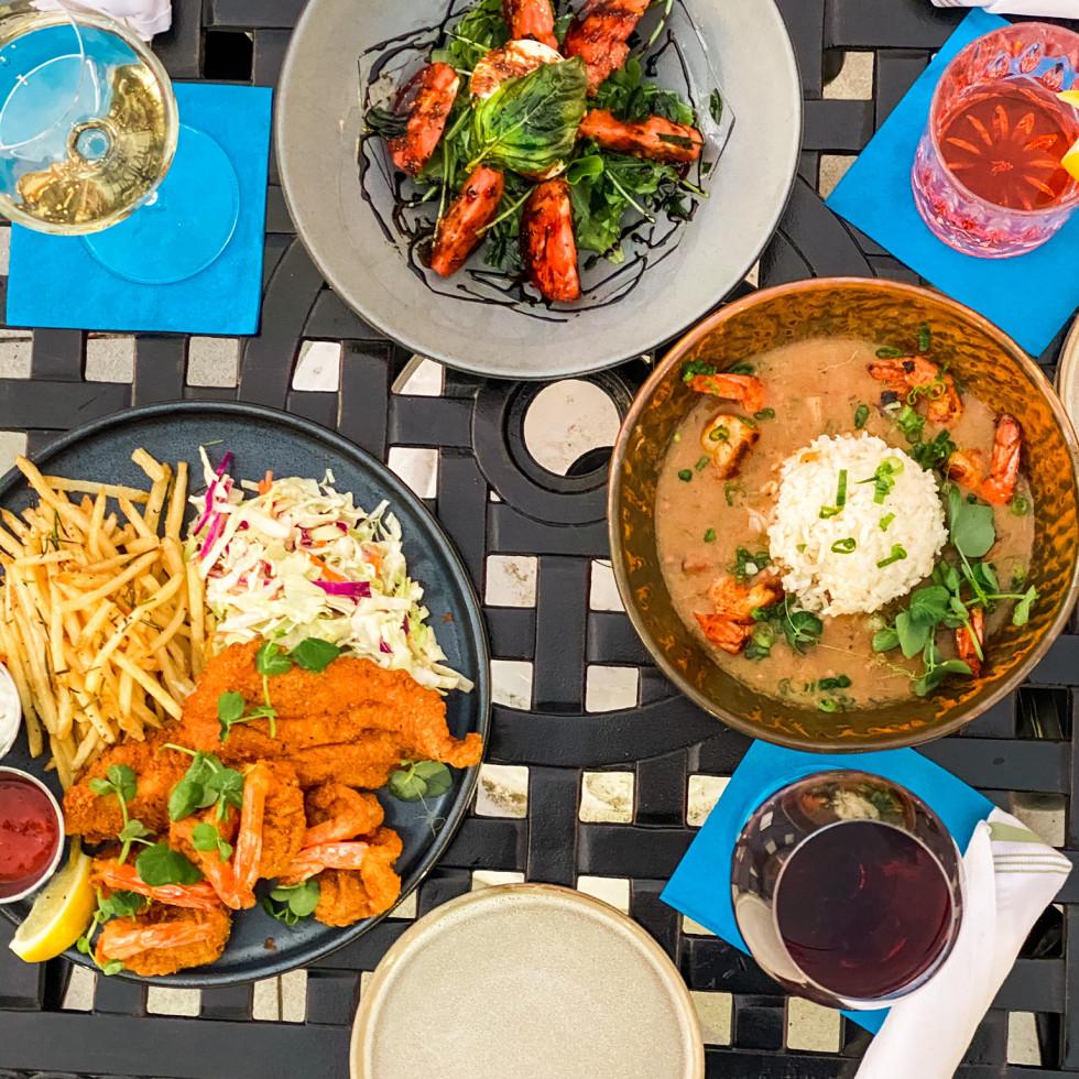 Acadian Coast food spread