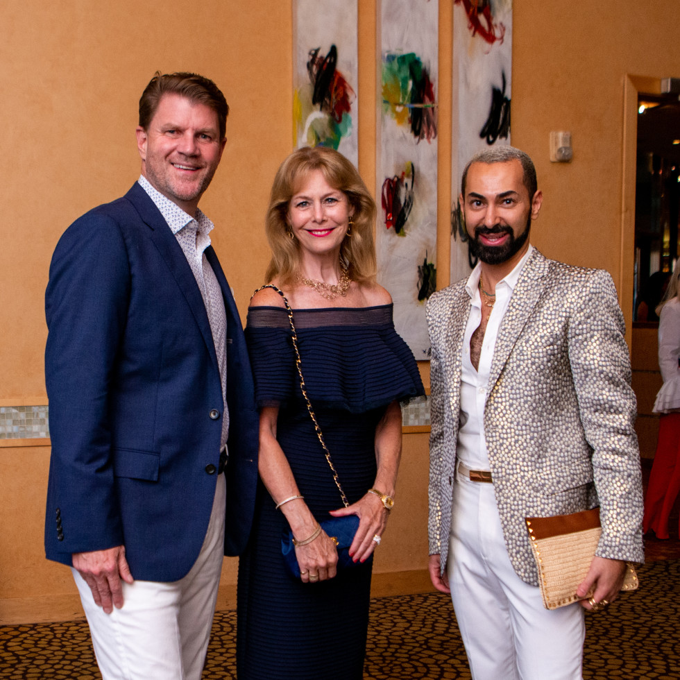 Tony's Wine Dinner The Women's Fund Bill Baldwin, Cheryl Byington, Fadi Armanious