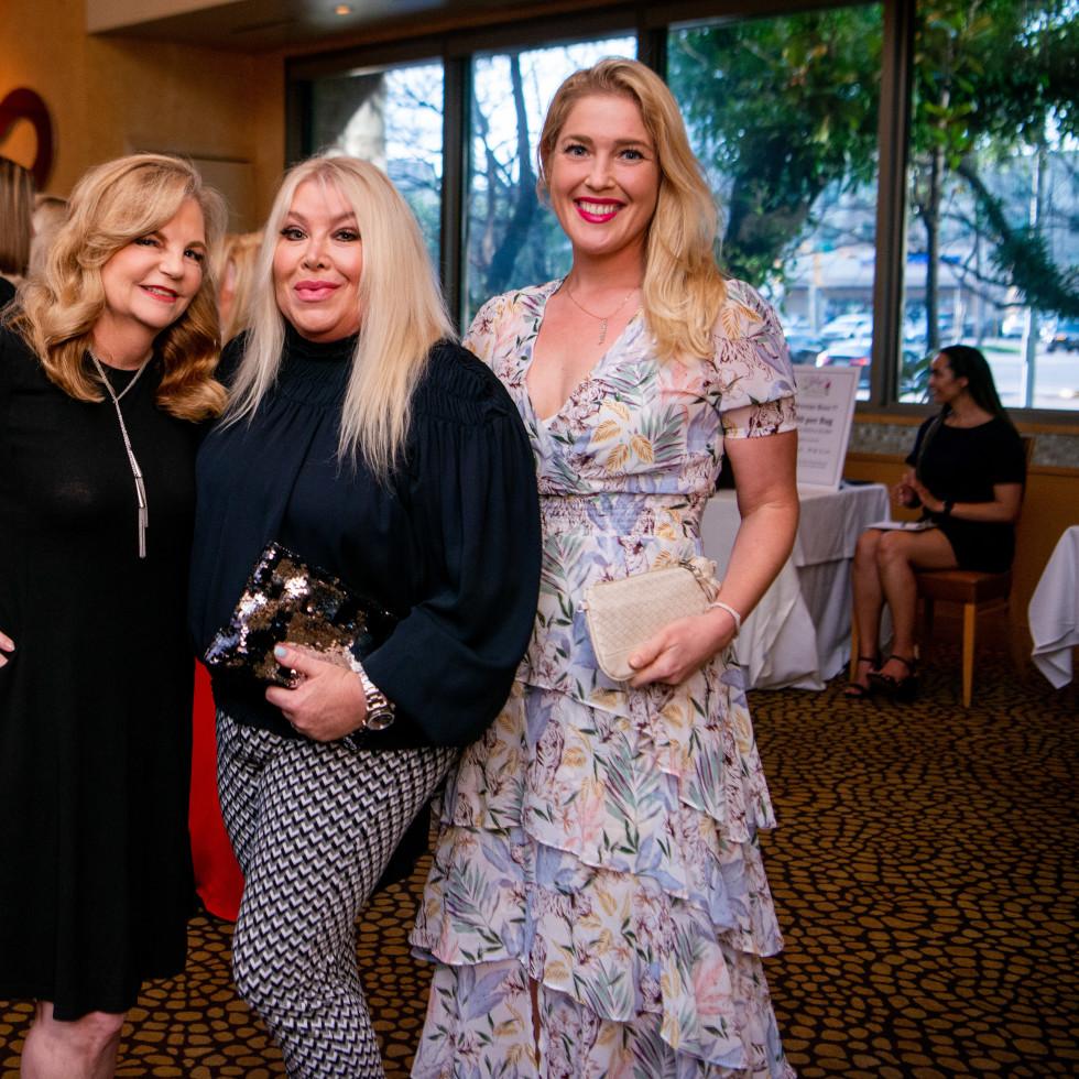 Tony's Wine Dinner The Women's Fund Kim Padgett, Lara Bell, Jennifer Roosth