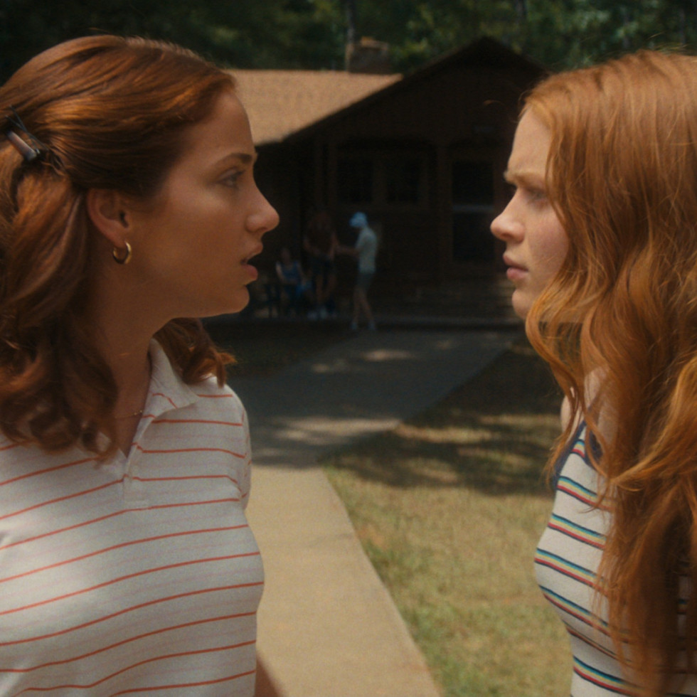 Emily Rudd and Sadie Sink in Fear Street Part Two: 1978