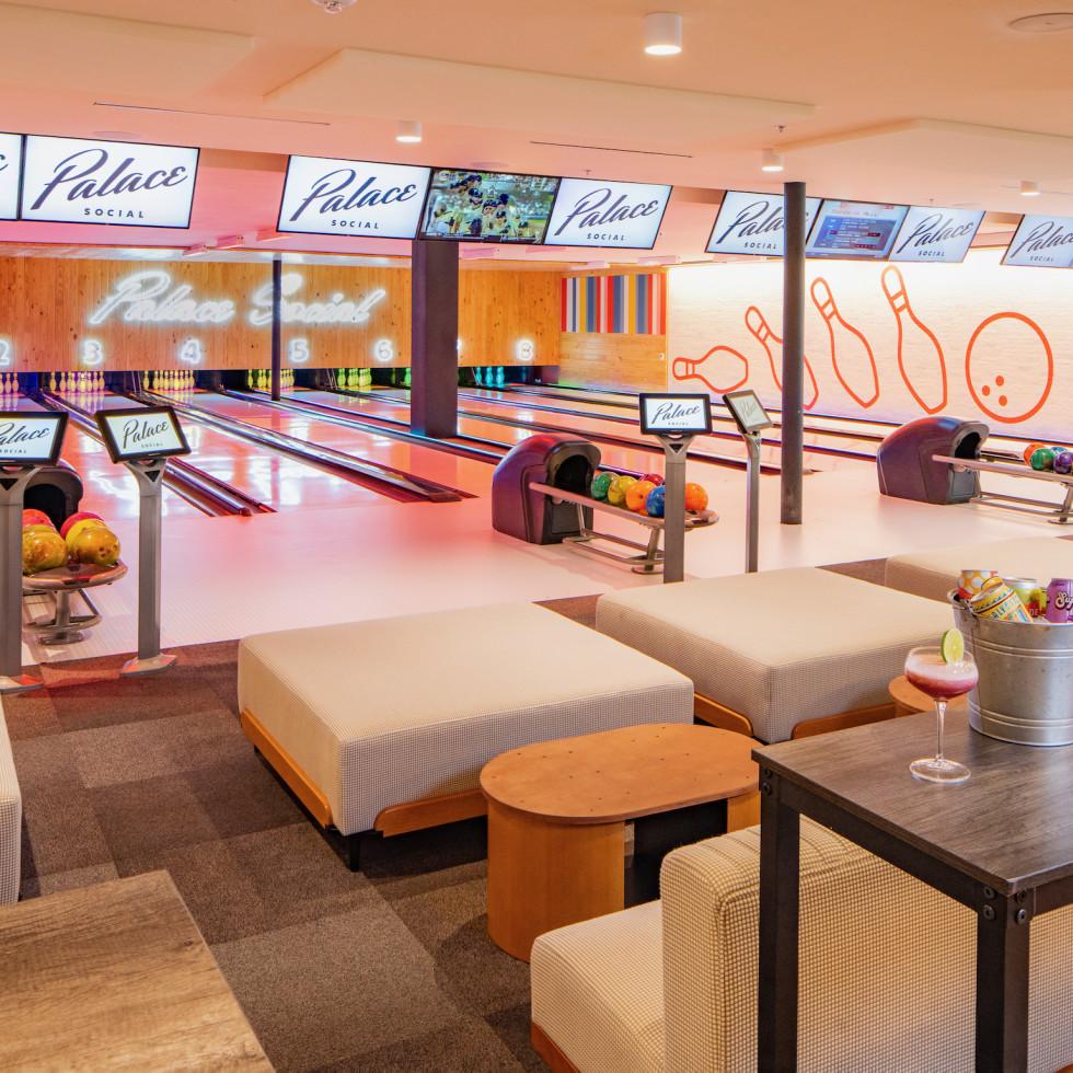 Palace Social bowling lanes