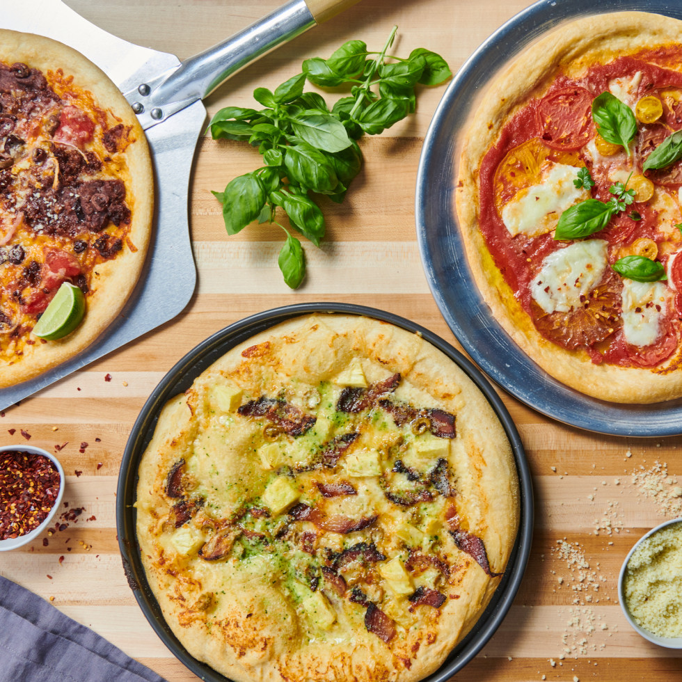 Shoot the Moon 3 Taco Strangelove Margherita pizzas