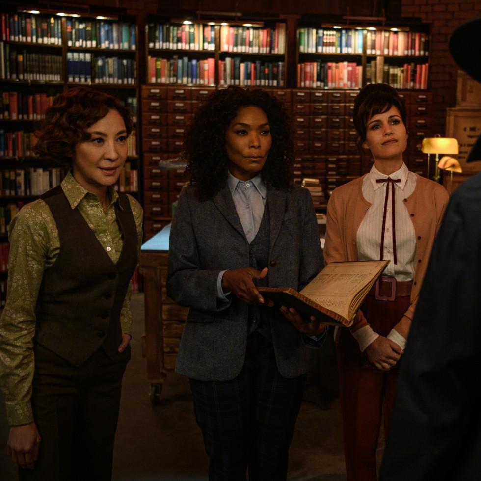 Michelle Yeoh, Angela Bassett, and Carla Gugino in Gunpowder Milkshake