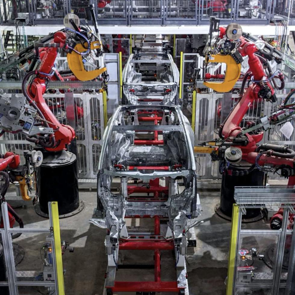 Tesla factory body shop Austin