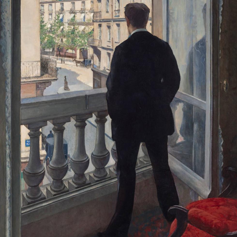 Caillebotte_Jeune homme àsa fenêtre