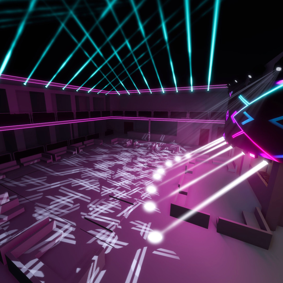 Sekai Day and Night nightclub interior rendering