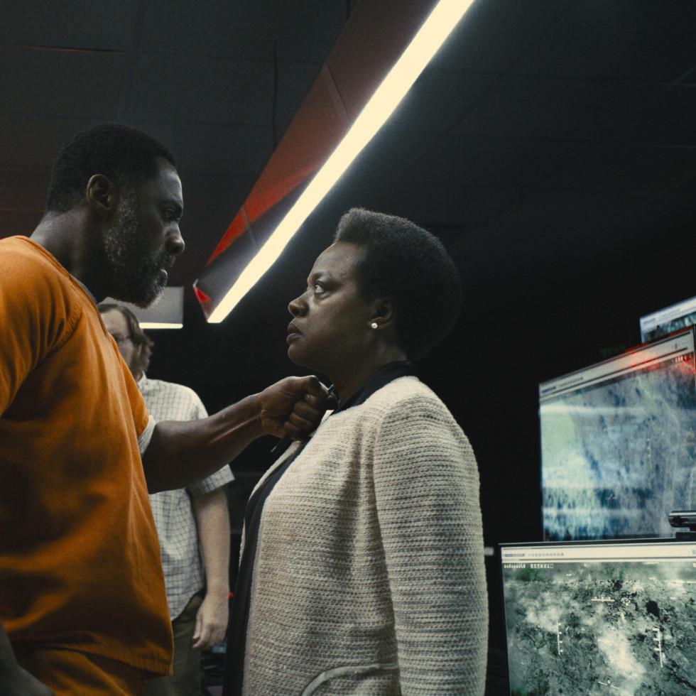 Idris Elba and Viola Davis in The Suicide Squad