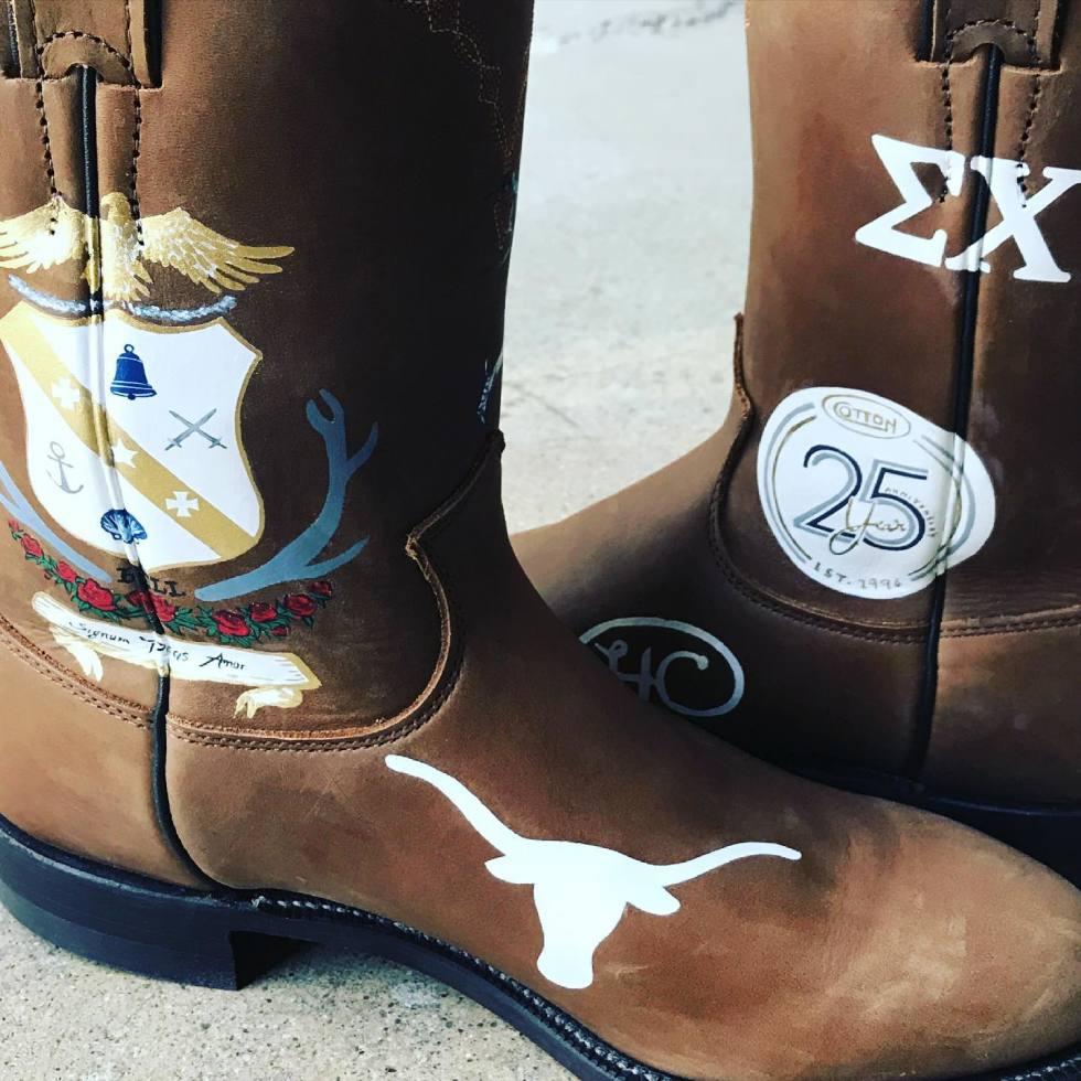DTLAcustom Tara Martin cowboy boots custom Cotton Holdings