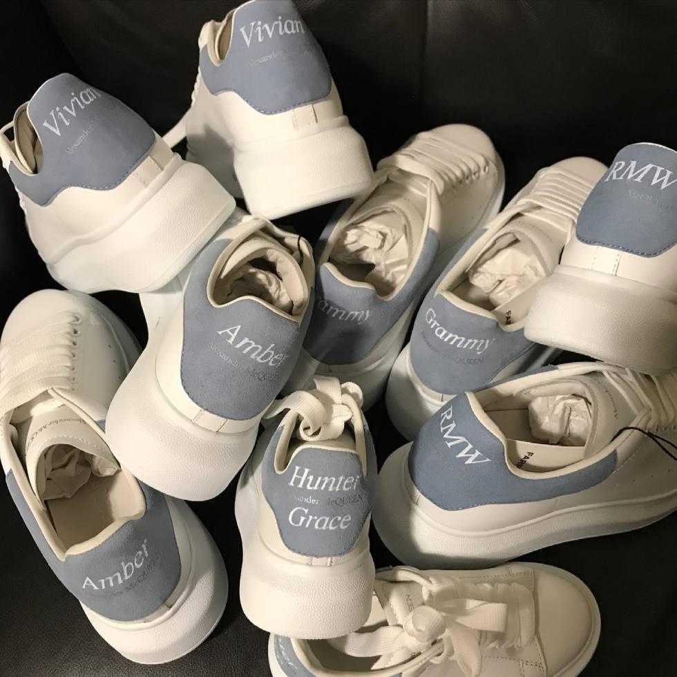 DTLAcustom Tara Martin Alexander McQueen sneakers