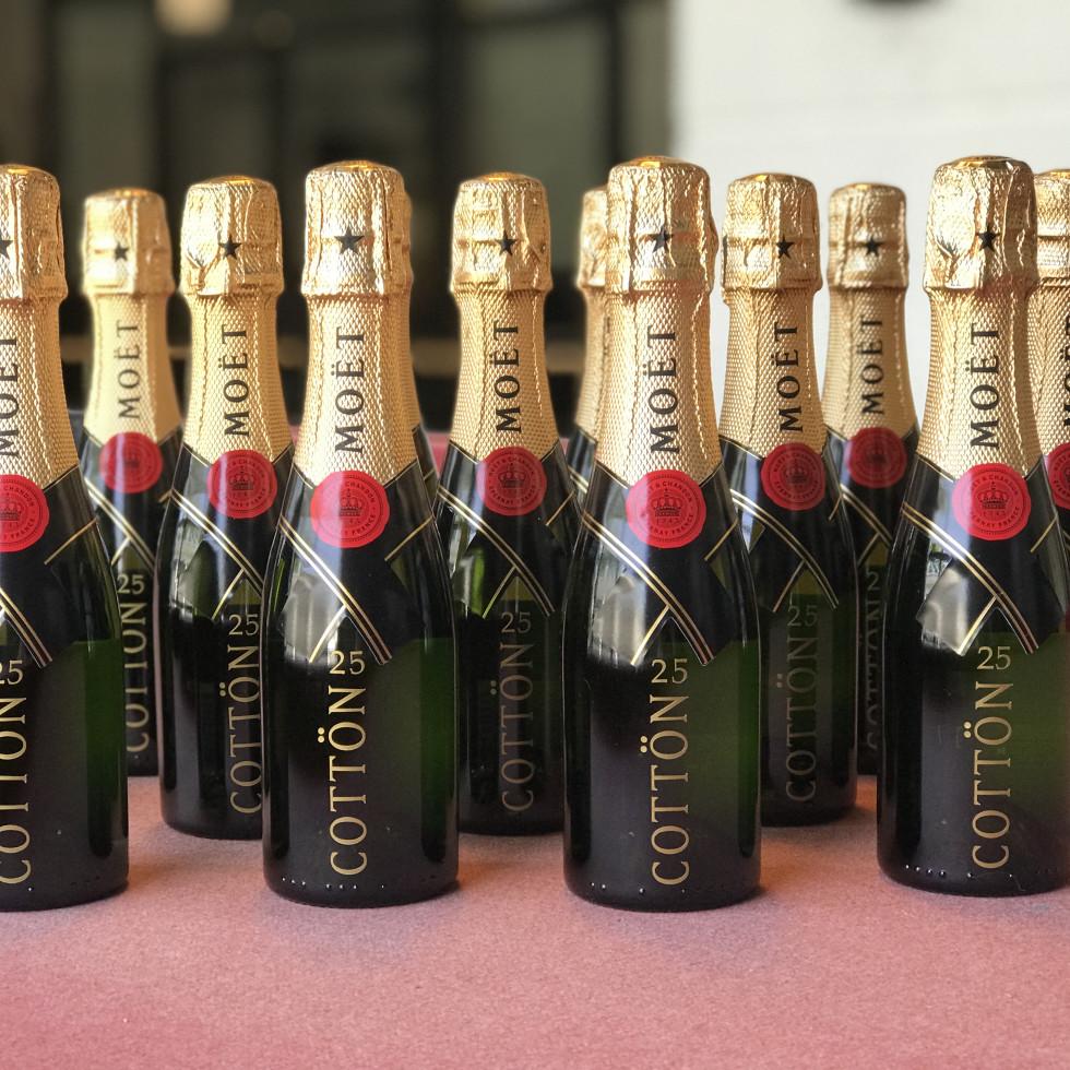 DTLAcustom Tara Martin custom Moët splits champagne