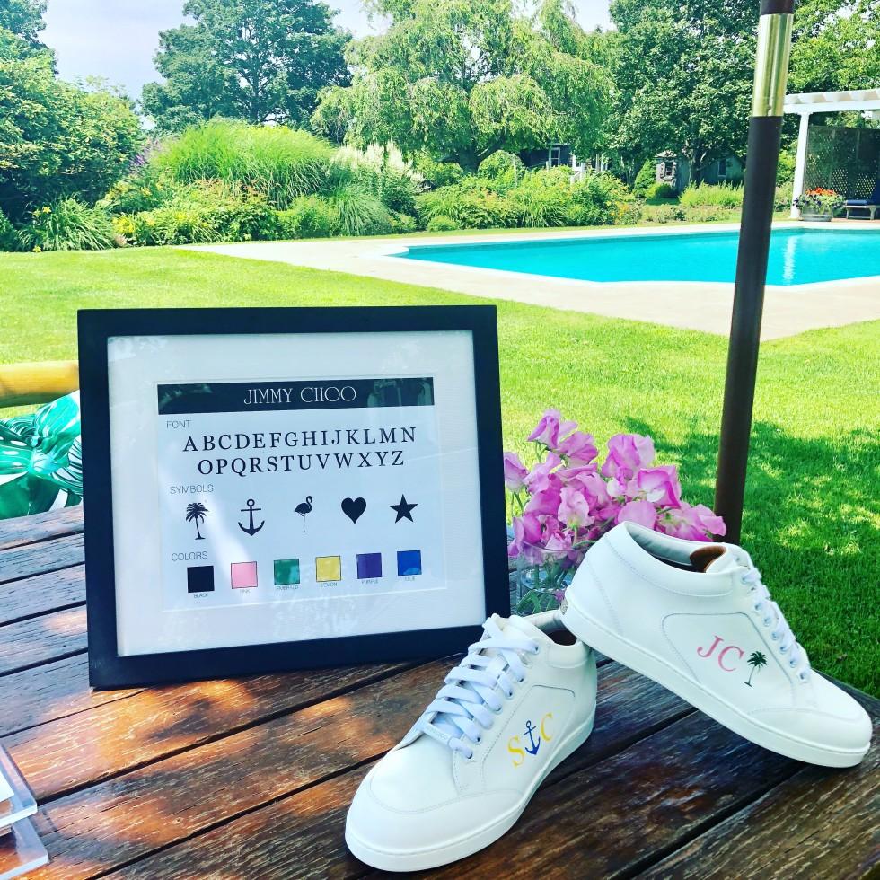 DTLAcustom Tara Martin Jimmy Choo sneakers Hamptons party