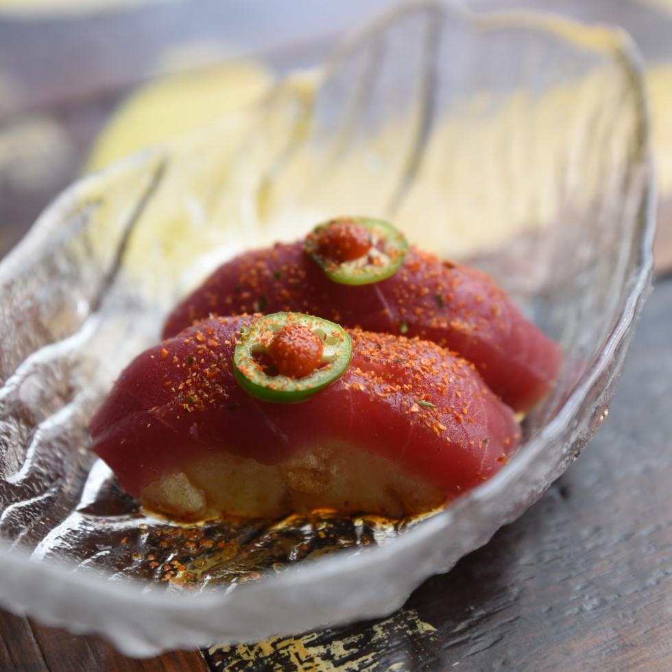 Blue Sushi Sake Grill Cherry Bomb nigiri