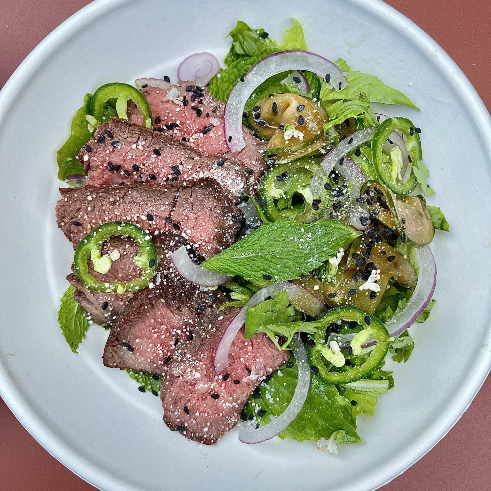 Salt & Time Cafe wagyu steak salad