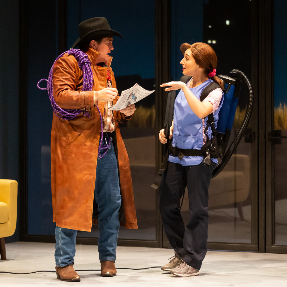 Alley Theatre: Winter's Tale, Christopher Salazar and Melissa Molano