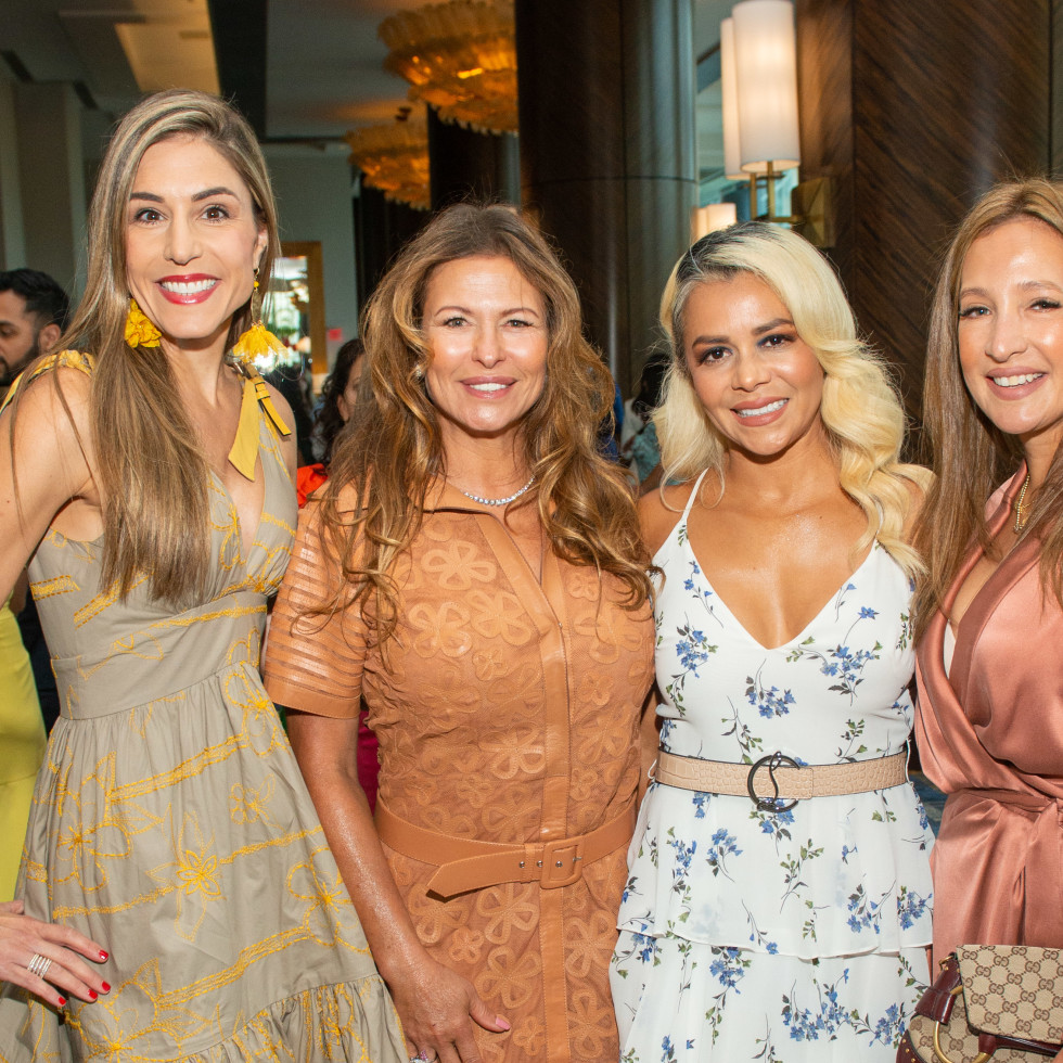 LWI Houston 2021 fashion show luncheon Ericka Toussaint, Rosangela Capobianco, Katalina Cohen, Raquel Adam