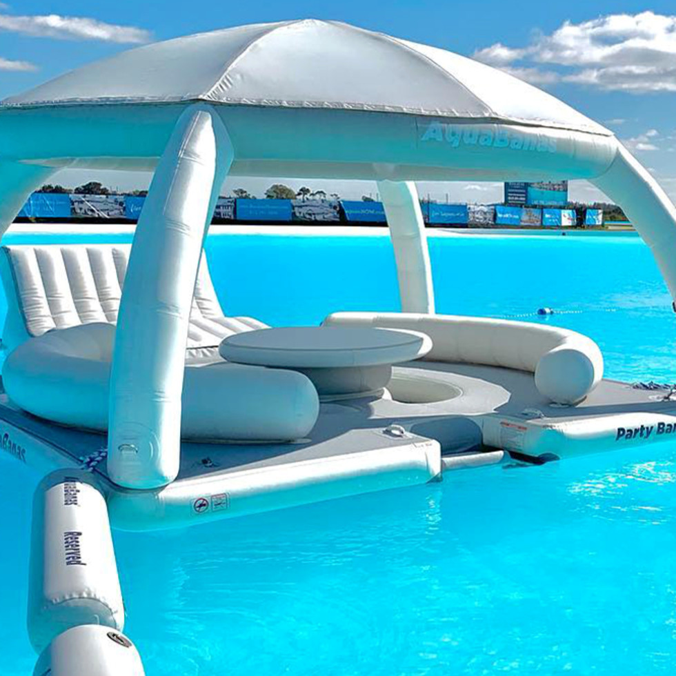Lagoonfest Texas crystal lagoons floating cabana aquabanas