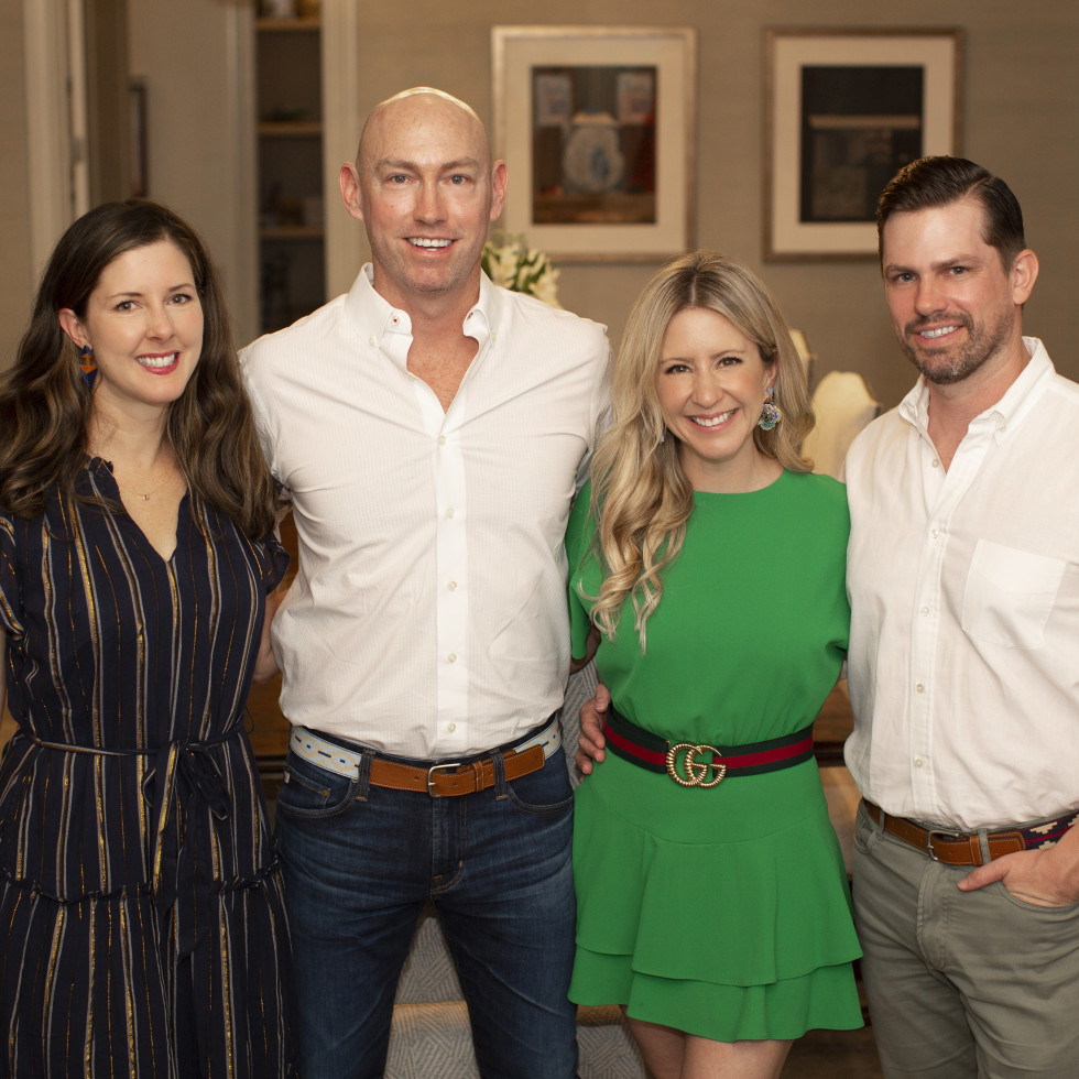 Homemade Hope Home is where the heart is gala kickoff 2021 Michelle and Mike Mann; Margot Delaronde Marcell and Josh Marcell