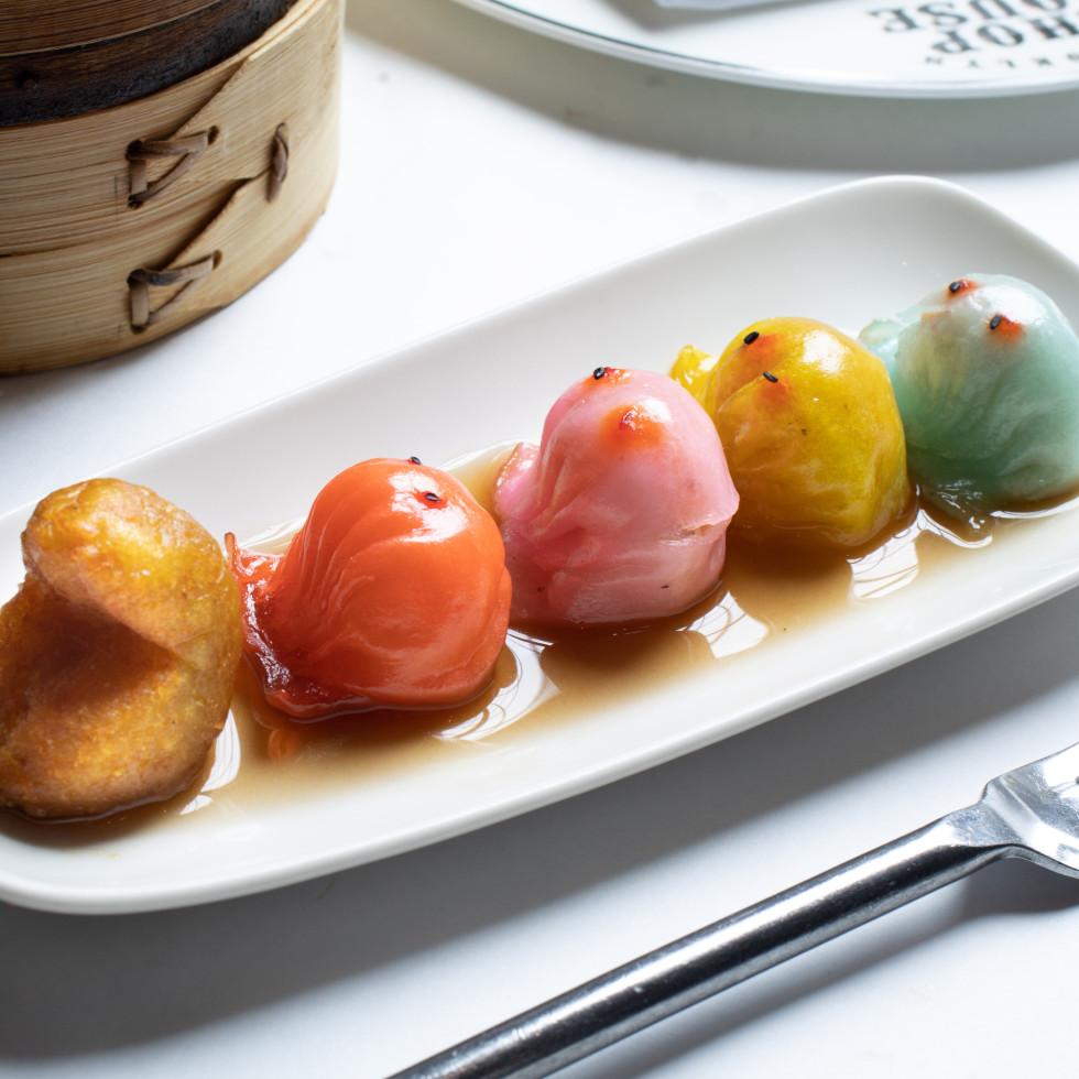 Pacman seafood dumplings