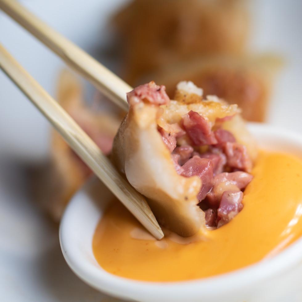 Pastrami dumpling
