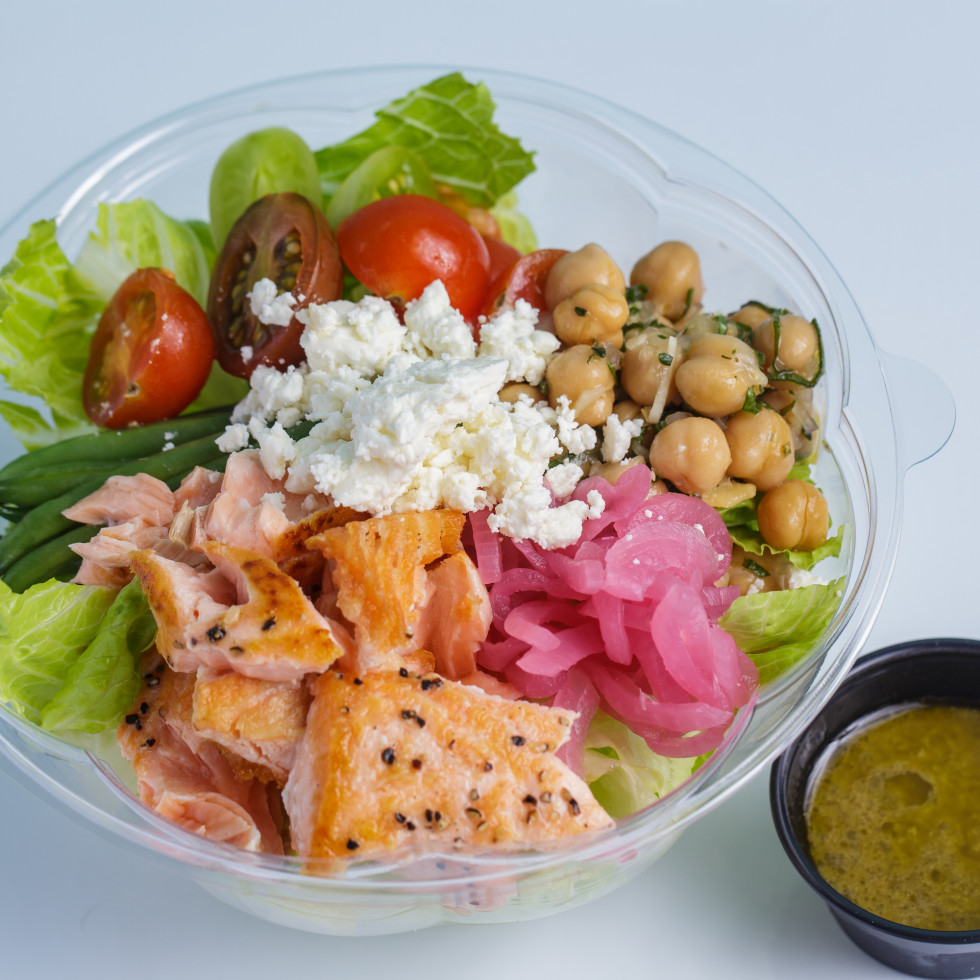 Common Bond On the Go Spring Branch seared salmon bowl