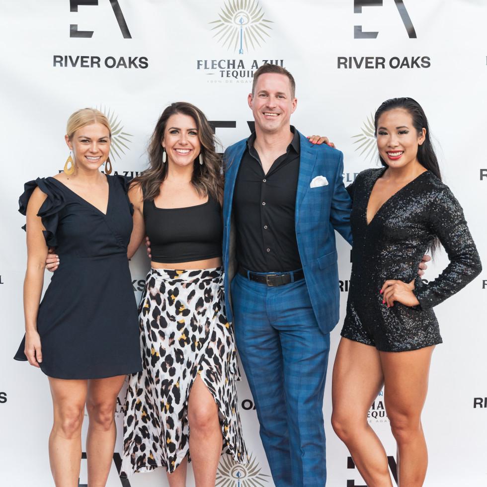 Sweat River Oaks opening Brittany Bradshaw, Rachelle Lemoine, Adam Greer, Abby Liu