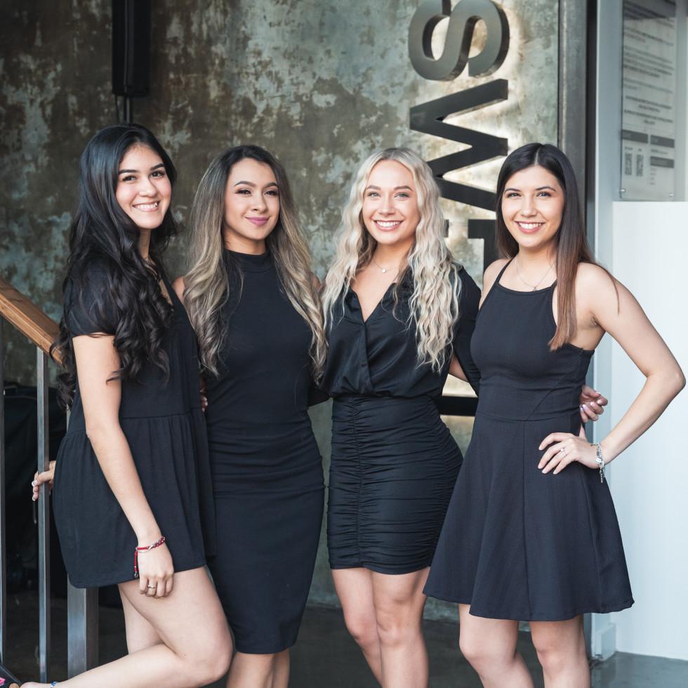 Sweat River Oaks opening  Lety Cendejas, Melissa Arvizo, Chelsea Hadash, Aylin Garza