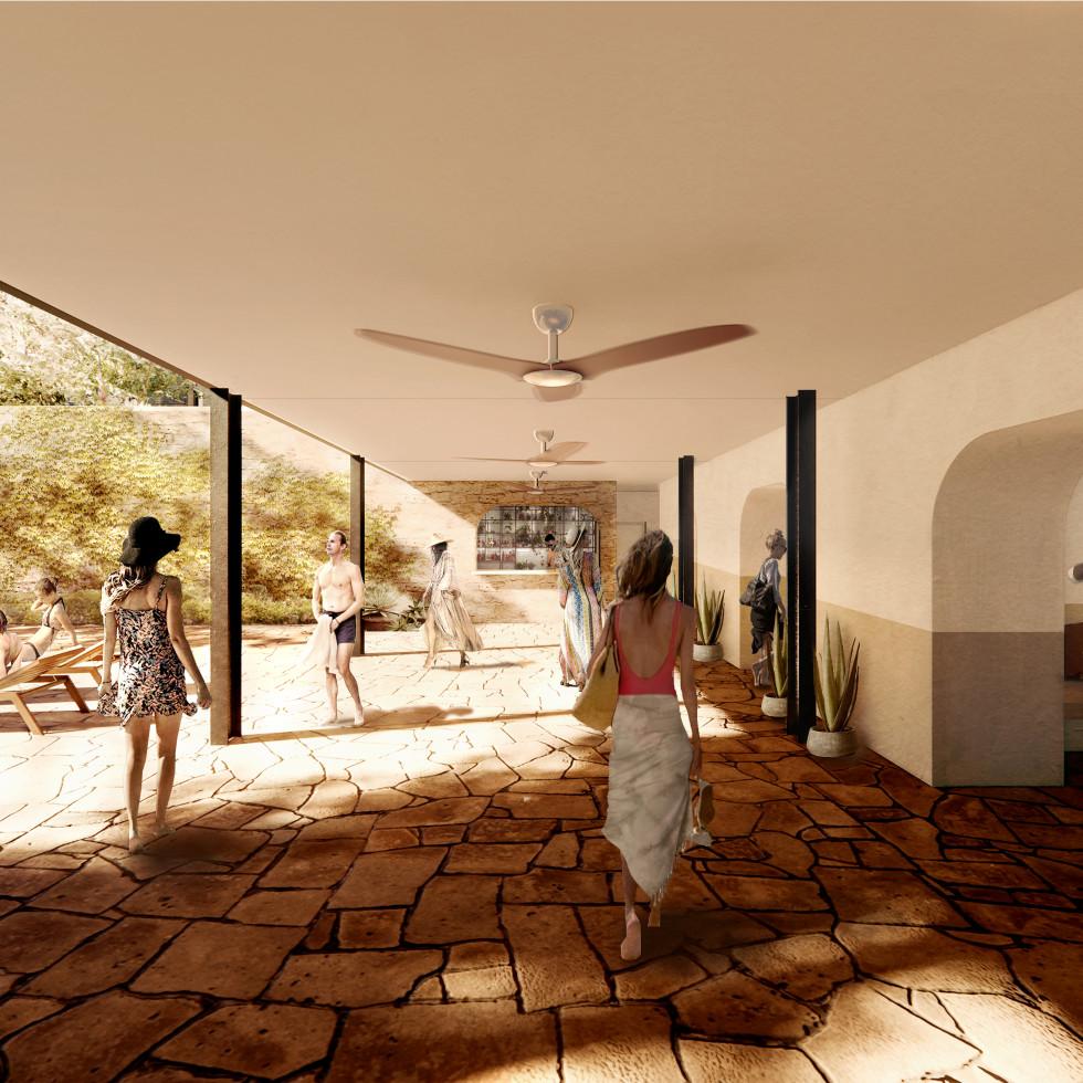 Albert Hotel pool cabanas