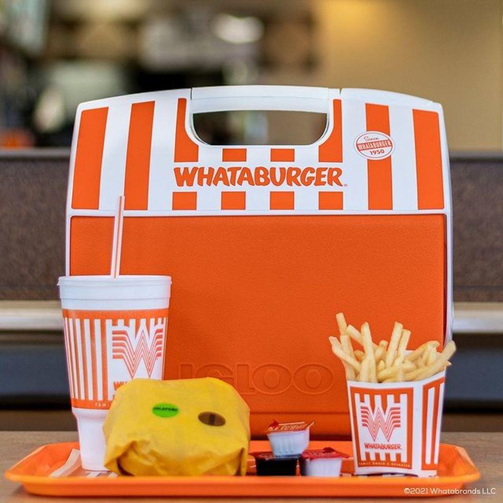Whataburger Igloo cooler