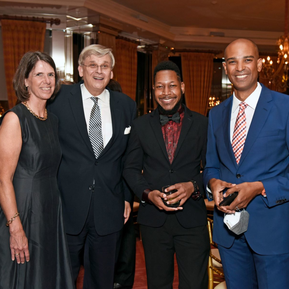 Mr. Andreas Bremer, Honorary Consul of the Federal Republic of Germany AND wife Nici and Brian Raphael Nabors Kevin John Edusei