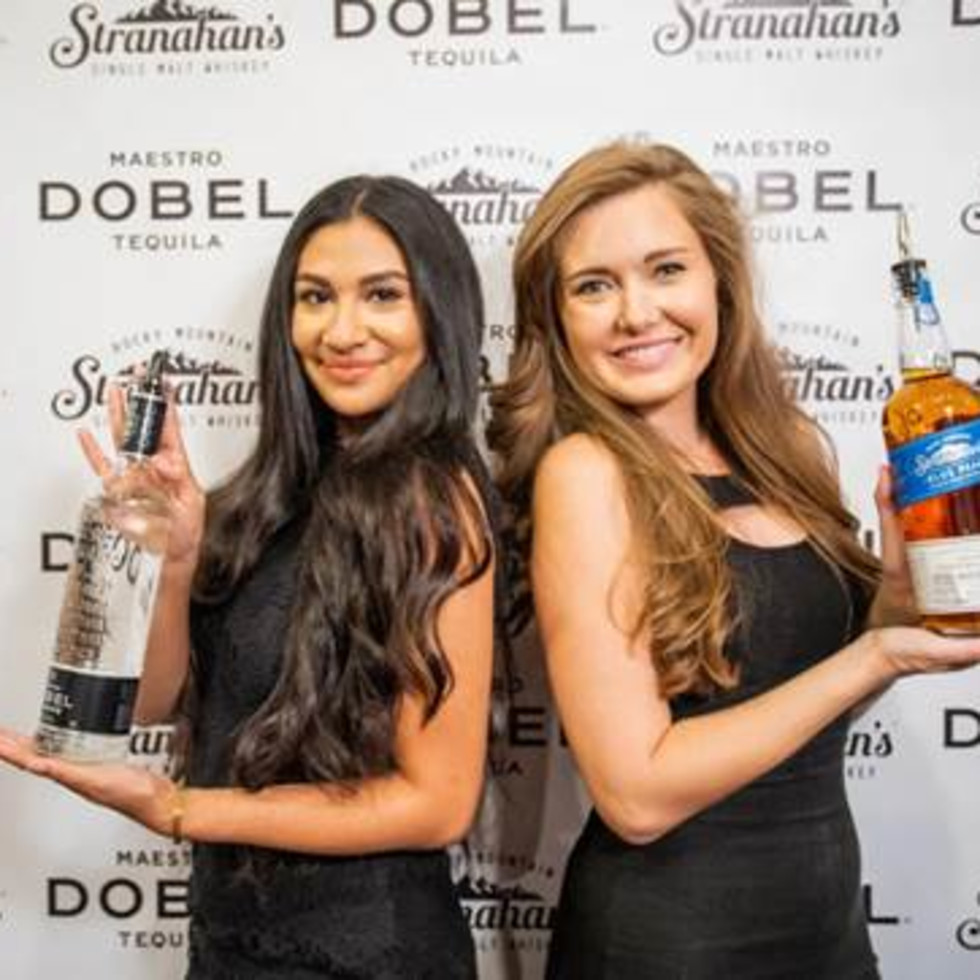 Stranahan's whiskey and Dobel tequila