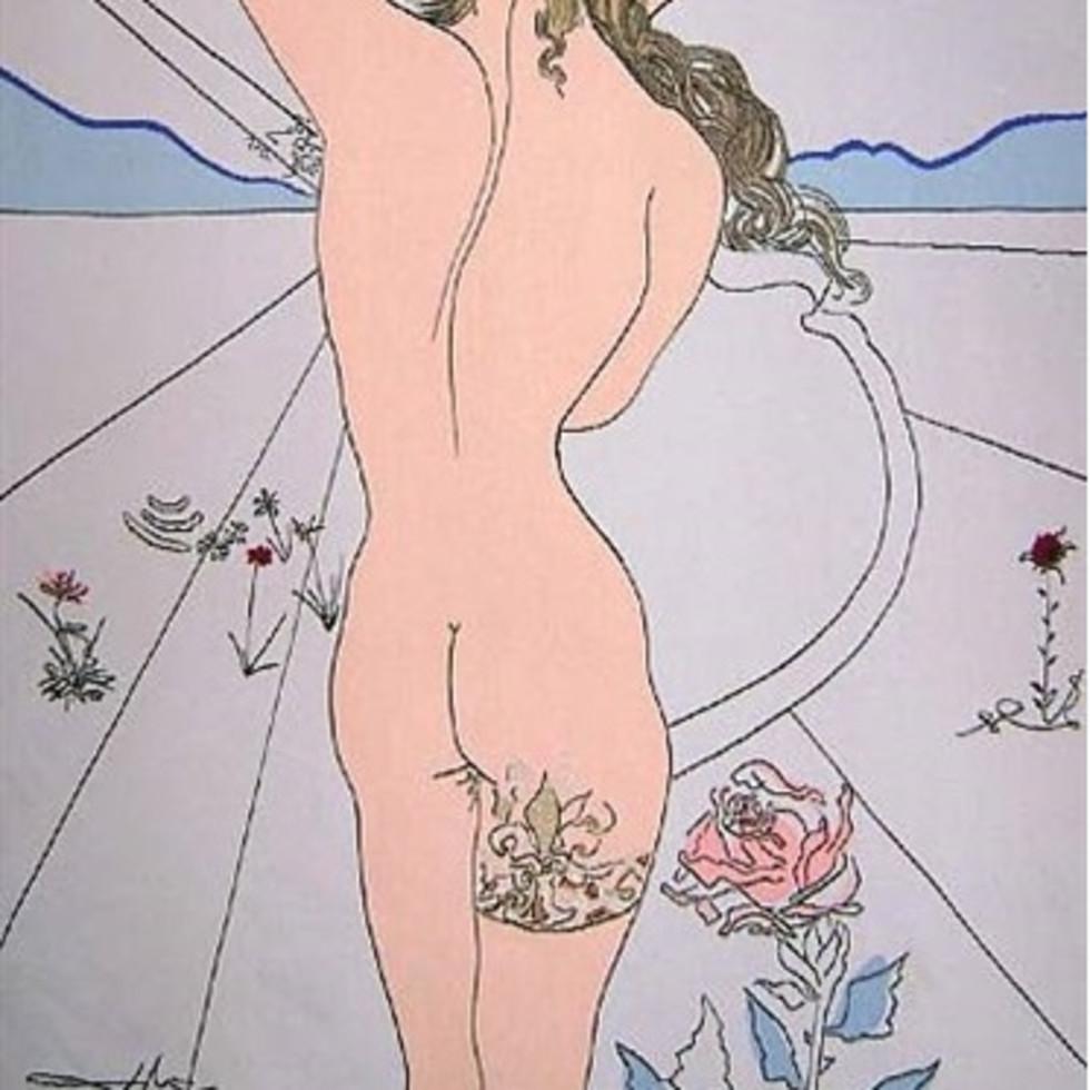 Salvador Dalí, Nude with Garter