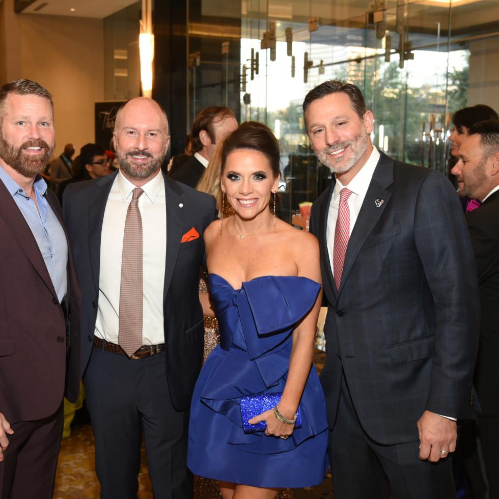 Houston Children's Charity Gala 2021  Kevin Black, Tony Bradfield, Joanna and Brad Marks