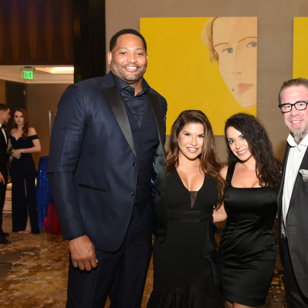 Houston Children's Charity Gala 2021 Robert and Candice Horry, Rachel and Jeff Bagwell
