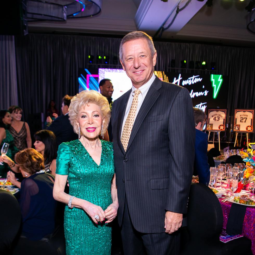 Houston Children's Charity Gala 2021 Margaret Alkek Williams, David Wuthrich