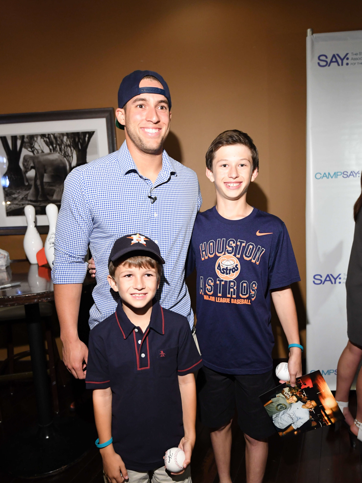 0360f891d73 Astros star George Springer and teammates bowl a strike for charity ...