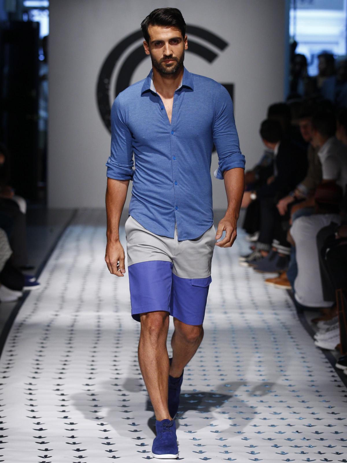 a024de9f0ec8 New York Men s Fashion Week Grungy Gentleman spring summer 2016 shorts shirt