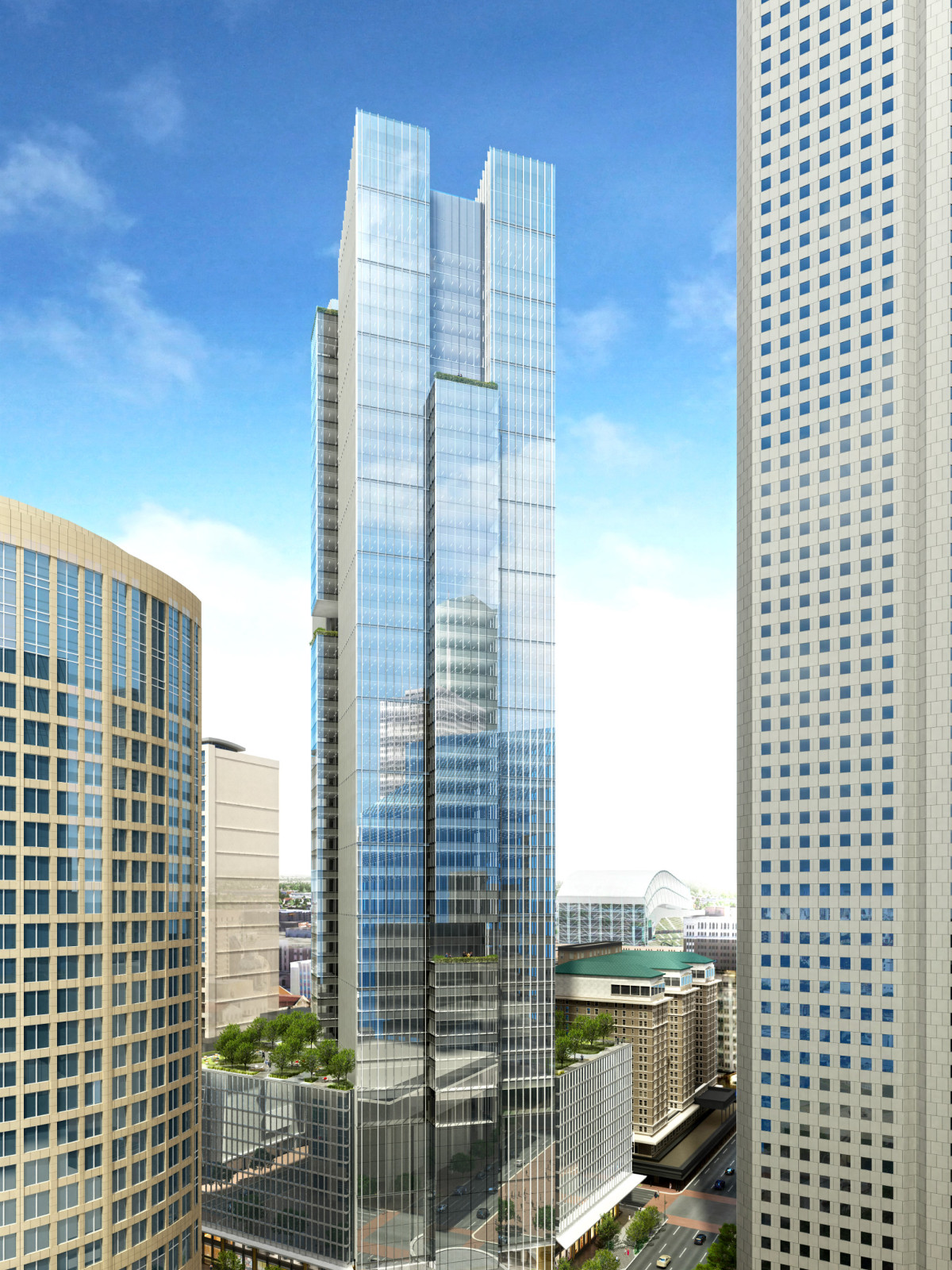 5d24899029ab Striking new downtown tower reimagines old Houston Chronicle ...